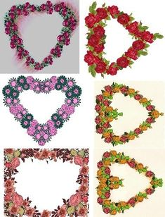 Free Collage Sheets by Art and imagesbykim: Hearts Flowers Frames Collage Sheet