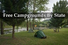 Free Campgrounds By State
