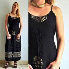 47100cb548ec4 90s High Neck Tie Dye Maxi Beach Dress S M    Cover Up
