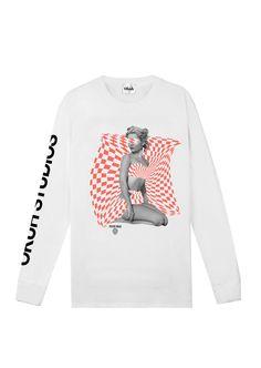 www.okuhstudios.com #surreal #fashion #streetwear #monochrome #90s #design #brand #london #melbourne #store #okuh #tshirt #longsleeve #graphics #black #white #newyork #menswear #psychedelic #style #streetstyle #women #pinups #rave #swirl