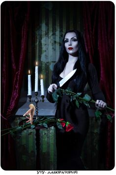 Amazing cosplay! Morticia Addams.
