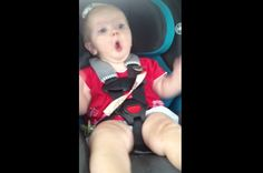 """Watch This Adorable Baby Girl Freak Out When Katy Perry's """"Dark Horse"""" Comes On The Radio  