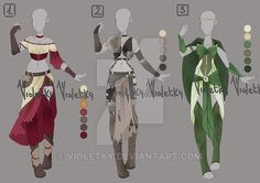 :: Adoptable Outfit 03: AUCTION OPEN :: by VioletKy.deviantart.com on @DeviantArt