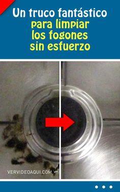 Un truco fantástico para limpiar los fogones sin esfuerzo. ¡Rápido y eficaz!
