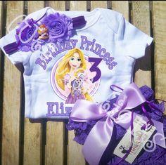 Tangled Rapunzel Personalized Birthday Petti by cutecreations33
