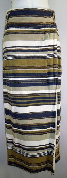 AMAZING Vintage Wrap Skirt! #Southwestern #Boho #Maxi #WrapSkirt #VintageSkirt #WomensFashion #VintageFashion