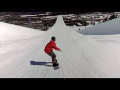 ▶ First-Ever Double Super Pipe Snowboard Session - YouTube