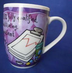 Nurses Call The Shots Coffee Mug Cup History & Heraldry 12 Oz. Porcelain