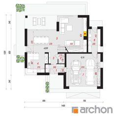 projekt Dom w złoci 2 rzut parteru Beautiful House Plans, Beautiful Homes, Dream Home Design, Modern House Design, Tiles Price, Reinforced Concrete, Home Projects, Planer, Floor Plans