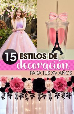 15 Ideas para decorar tu fiesta de xv años. 15 Ideas to decorate your party 9c61203a6cbf
