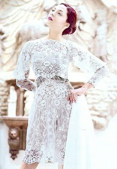 KC Concepcion wearing MOBO lace dress by Lesley Mobo