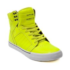 Mens Supra Skytop Skate Shoe in Neon Yellow at Journeys Shoes. Available only online at Journeys.com!