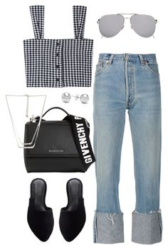 """""""Untitled #2298"""" by andreagm ❤ liked on Polyvore featuring Givenchy, Yves Saint Laurent, Jewelonfire and Forever 21"""