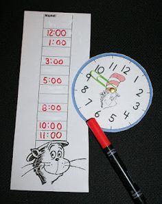 PK-2: Time For Seuss Clock Game
