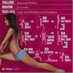 Leg Workout- just 15 mins.