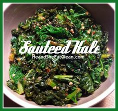 He and She Eat Clean: Clean Eat Recipe :: Sauteed Kale