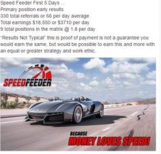 Take A Look At What People Are Already Earning With This Speed Feeder Program...  http://helinaonlinebusiness.blogspot.com/2017/01/speed-feeder-program-compensation.html