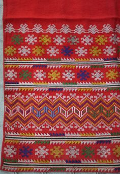 Thai Yao embroidery cross stitch antique panel by ThaiTextileShop