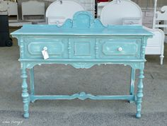 Buffet Painted with Provence Annie Sloan Chalk Paint
