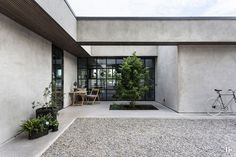 〚 Contemporary lake house of concrete with a swimming pool 〛 ◾ Photos ◾Ideas◾ Design