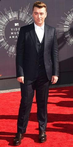 Sam Smith on the red carpet