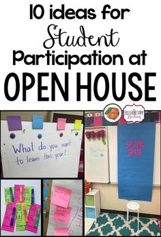 The Primary Peach: Ten ideas for student participation during Open House Love adding a Post-it for what you want to learn this year! Maybe have parents and kids add something to the chart!
