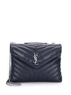 f05fd8a7dd37 SAINT LAURENT Medium Lou Lou Leather Chain Shoulder Bag.  saintlaurent  bags   shoulder bags  hand bags  lining  leather  cotton