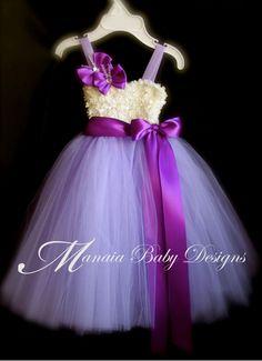 Abrielle  Sofia The First  Purple Tutu Dress  / $34.00, via etsy /// Flower Girl