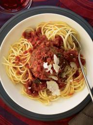 Supersize Meatballs in Marinara Sauce | KitchenDaily.com