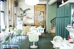 """Milan - Aromando Bistrot Recommended by: Luigi Taglienti Best for: Bargain dining """"Sunday lunch in the homes of Milan's wealthy reinterpreted with meticulous food preparation and an excellent wine list."""" Photo © The Chic Fish Restaurant Guide, Restaurant Design, Restaurant Interiors, Milan Restaurants, Sunday Cafe, Italian Chef, Cafe Bistro, Vogue Living, Lovely Shop"""