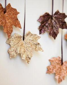 DIY this glittery leaf garland for fall., DIY this glittery leaf garland for fall. DIY this glittery leaf garland for fall. DIY this glittery leaf garland for fall. Kids Crafts, Diy And Crafts, Leaf Crafts, Fall Leaves Crafts, Diy Autumn Crafts, Kids Diy, Decor Crafts, Baby Fall Crafts, Room Crafts