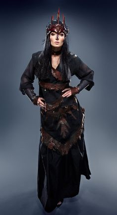 Dark Faery Queen Full Custom Costume. by RaggedEdgeLeather via Etsy.