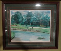 Scramble For Par Golf Picture LIMITED Numbered Print With Frame By R. Thornton