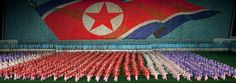 North korean flag during Arirang - Pyongyang North Korea by Eric Lafforgue, via Flickr