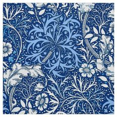 Blue And White Fabric, White Fabrics, Blue Fabric, White Tiles, Color Stories, Bold Prints, William Morris, Cobalt Blue, Damask