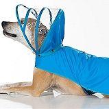 Light Blue Dog Raincoat - Rainbow Line - Big Dog Sizes Too!