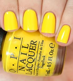 Trendy Nails Yellow Gel Light 46 Ideen - Famous Last Words Yellow Nails Design, Yellow Nail Polish, Yellow Nail Art, Nail Polish Colors, Yellow Toe Nails, Opi Gel Polish, Opi Nails, Gel Manicures, Shellac