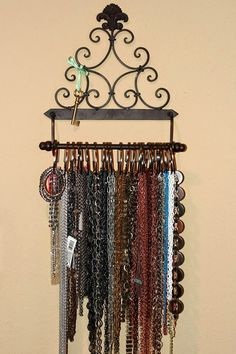 """""""My favourite storage solution is the paper towel holder that I display and sort all of my chain by metal type! It used to actually be in a ..."""