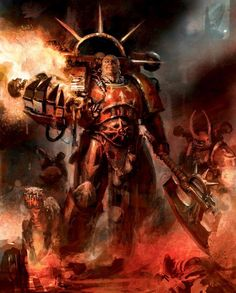 Huron Blackheart, Space Pirate of the renegade Legiones Astartes Red Corsairs