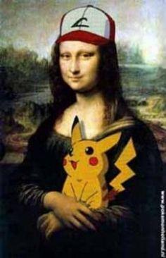 monalisa  e pikachu