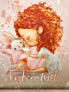 Little Girl Cartoon, Cute Cartoon, Curly Hair Cartoon, Baby Illustration, Decoupage, Love Wallpaper, Whimsical Art, Love Art, Cute Drawings