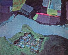 Night Landings: Sambura, 1970 by Jane Frank. Abstract Expressionism. abstract