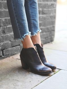 Free People Detroit Ankle Boot, $275.00. I LOVE THIS STYLE, BUT I WILL DEFINANTLY BE GETTING THESE DYED TO BE JET BLACK, I DON'T LIKE THE DISTRESSED COLOR ON THESE BOOTS.