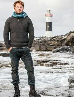 Aran Sweater and Jeans