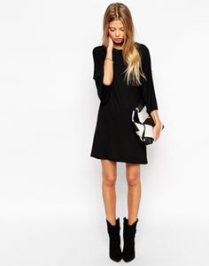 Enlarge ASOS PETITE T-Shirt Dress with Kimono Sleeves