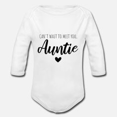 Can't wait to meet you, auntie Baby Bio-Langarm-Body