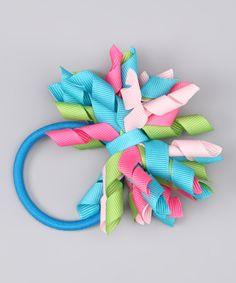 Pink & Green Korker Hair Tie