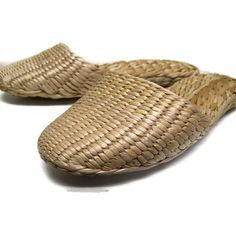 Vintage Grass Slippers Unisex Asian Slippers Eco by GlimmersinTime, $15.00