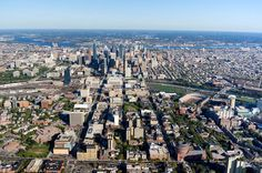 Aerial view of Philadelphia, PA, the Center City District