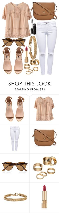 """Untitled #546"" by daimy-style ❤ liked on Polyvore featuring H&M, J.Crew, Lipsy, Tory Burch, Ray-Ban, Apt. 9, Blue Nile and Dolce&Gabbana"